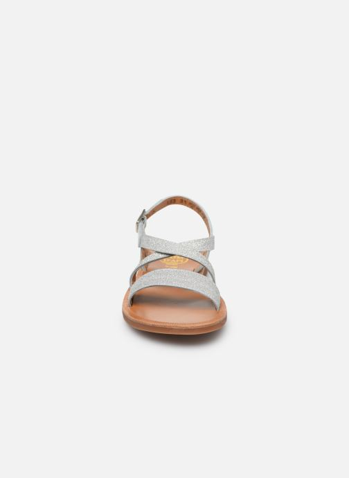 Sandales et nu-pieds Pom d Api Plagette Lagon Argent vue portées chaussures