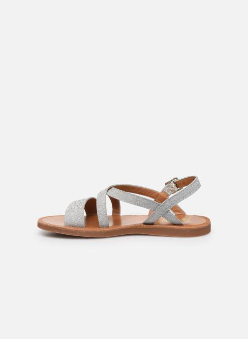 Sandales et nu-pieds Pom d Api Plagette Lagon Argent vue face