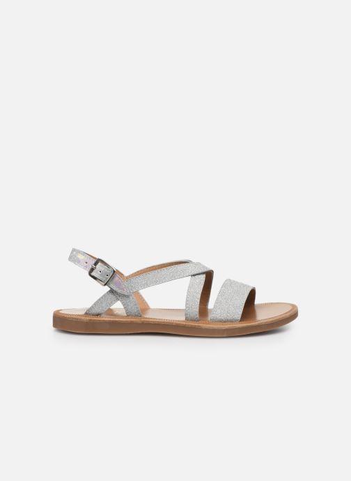 Sandales et nu-pieds Pom d Api Plagette Lagon Argent vue derrière