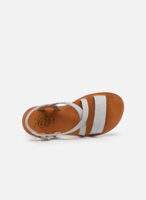 Sandales et nu-pieds Pom d Api Plagette Lagon Argent vue gauche