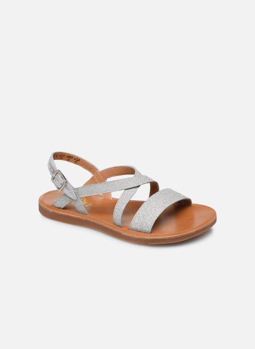 Sandales et nu-pieds Pom d Api Plagette Lagon Argent vue détail/paire