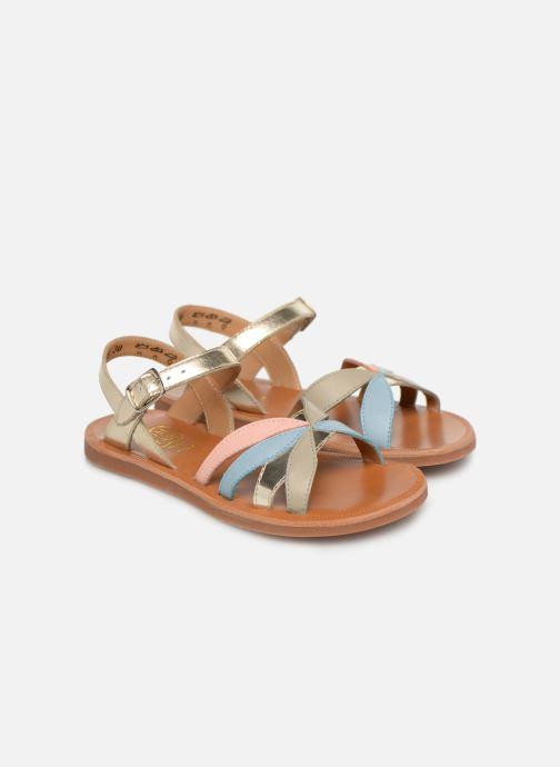 Sandales et nu-pieds Pom d Api Plagette Reverse Or et bronze vue 3/4