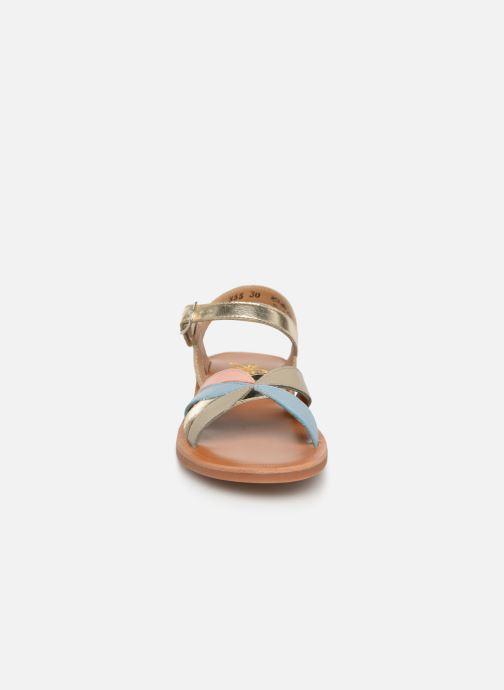 Sandali e scarpe aperte Pom d Api Plagette Reverse Oro e bronzo modello indossato