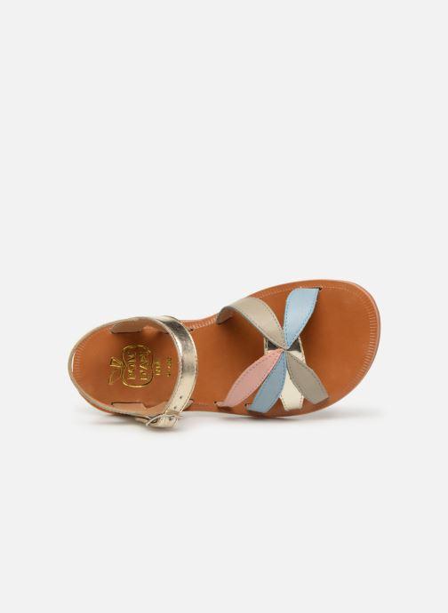 Sandales et nu-pieds Pom d Api Plagette Reverse Or et bronze vue gauche