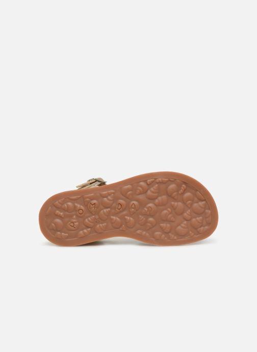 Sandales et nu-pieds Pom d Api Plagette Reverse Or et bronze vue haut