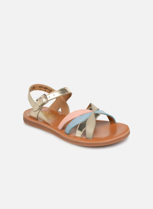 Sandales et nu-pieds Pom d Api Plagette Reverse Or et bronze vue détail/paire
