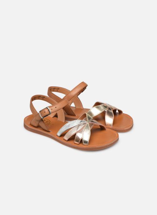 Sandali e scarpe aperte Pom d Api Plagette Reverse Argento immagine 3/4