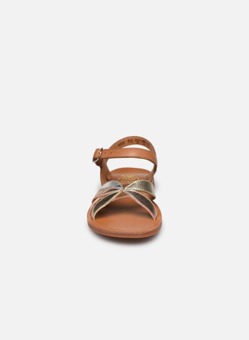 Sandali e scarpe aperte Pom d Api Plagette Reverse Argento modello indossato