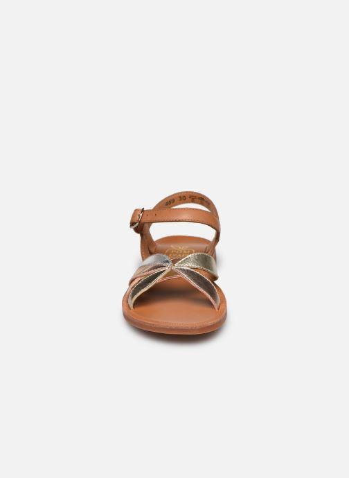 Sandales et nu-pieds Pom d Api Plagette Reverse Argent vue portées chaussures