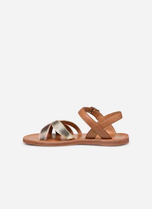 Sandales et nu-pieds Pom d Api Plagette Reverse Argent vue face