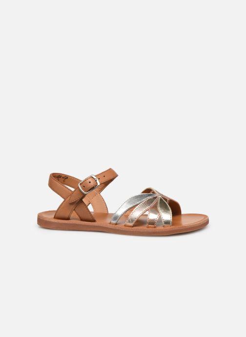 Sandales et nu-pieds Pom d Api Plagette Reverse Argent vue derrière