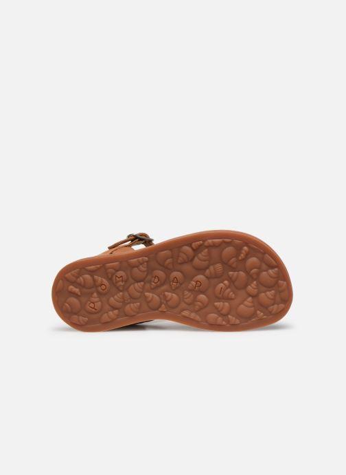 Sandales et nu-pieds Pom d Api Plagette Reverse Argent vue haut