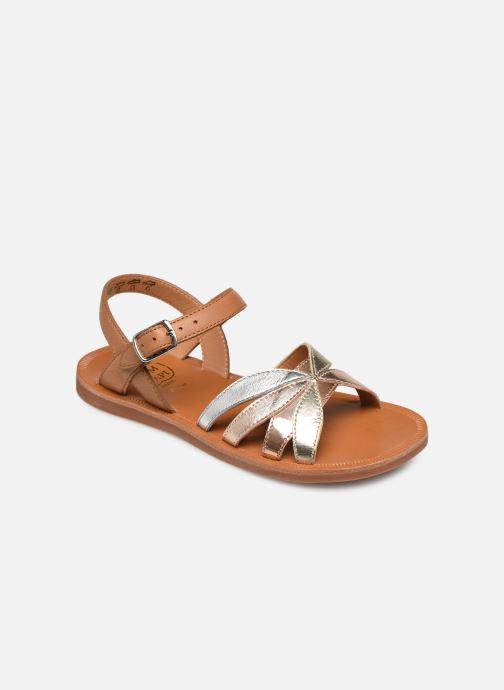 Sandales et nu-pieds Pom d Api Plagette Reverse Argent vue détail/paire