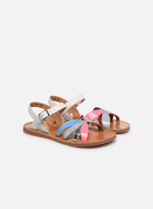 Sandales et nu-pieds Pom d Api Plagette Reverse Multicolore vue 3/4