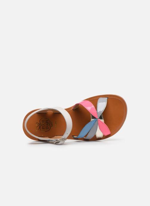 Sandales et nu-pieds Pom d Api Plagette Reverse Multicolore vue gauche