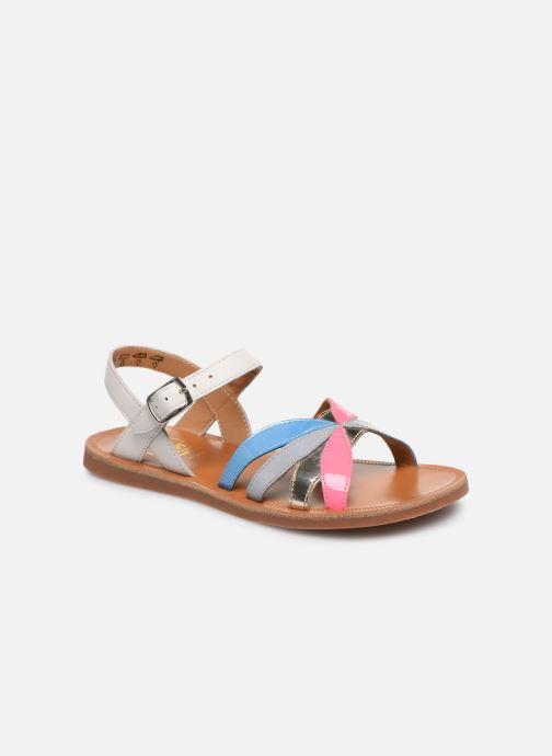 Sandales et nu-pieds Pom d Api Plagette Reverse Multicolore vue détail/paire