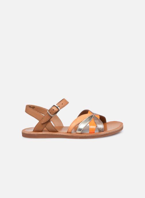 Sandali e scarpe aperte Pom d Api Plagette Reverse Marrone immagine posteriore