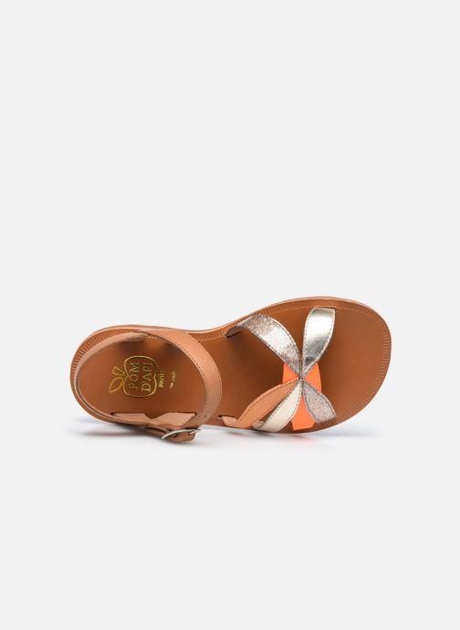 Sandali e scarpe aperte Pom d Api Plagette Reverse Marrone immagine sinistra