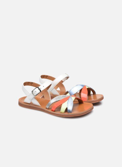 Sandali e scarpe aperte Pom d Api Plagette Reverse Bianco immagine 3/4
