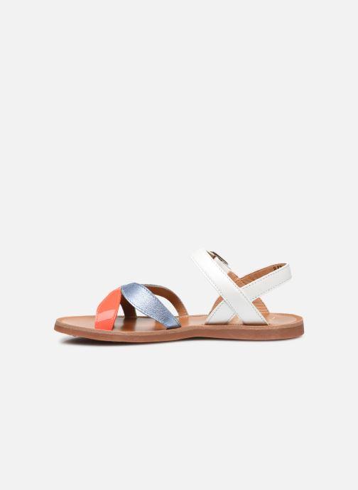 Sandali e scarpe aperte Pom d Api Plagette Reverse Bianco immagine frontale
