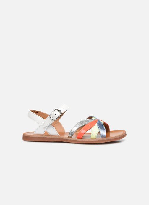 Sandali e scarpe aperte Pom d Api Plagette Reverse Bianco immagine posteriore