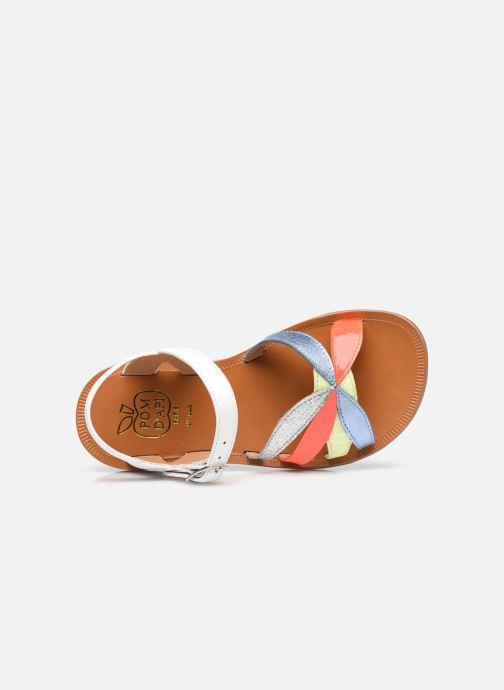 Sandali e scarpe aperte Pom d Api Plagette Reverse Bianco immagine sinistra