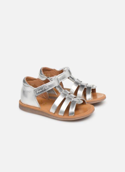 Sandales et nu-pieds Pom d Api Poppy Strap PRT Argent vue 3/4