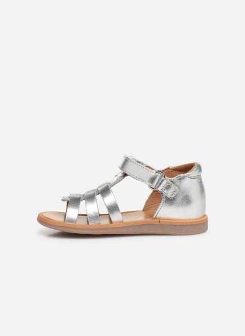 Sandalen Pom d Api Poppy Strap PRT Zilver voorkant
