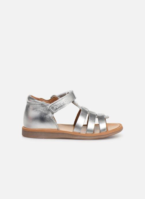 Sandales et nu-pieds Pom d Api Poppy Strap PRT Argent vue derrière