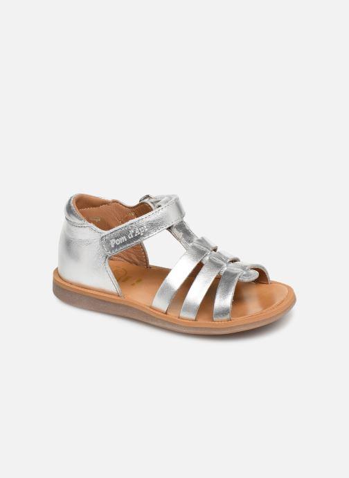 Sandales et nu-pieds Pom d Api Poppy Strap PRT Argent vue détail/paire