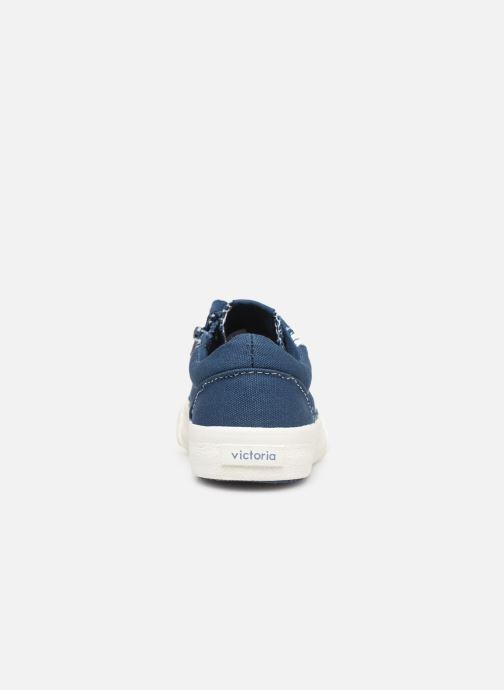 Sneakers Victoria Tribu Lona Retro Azzurro immagine destra