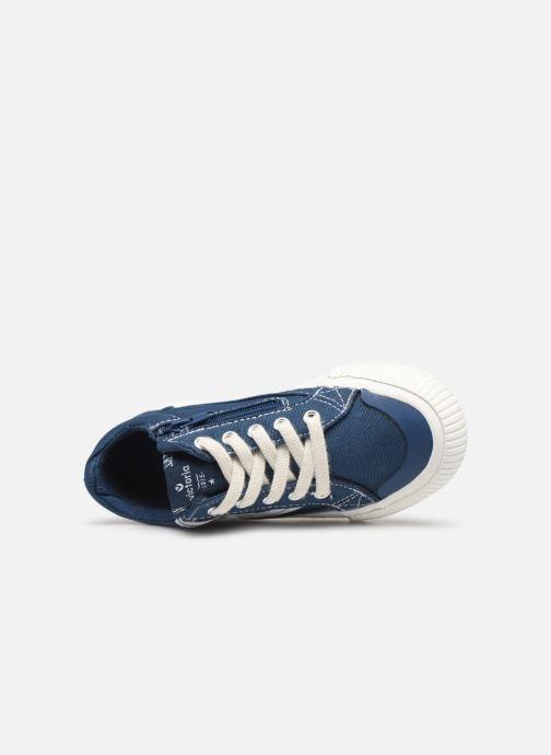Sneakers Victoria Tribu Lona Retro Azzurro immagine sinistra