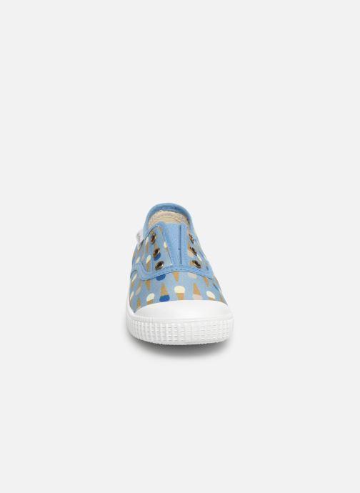 Baskets Victoria Inglesa Helados Bleu vue portées chaussures