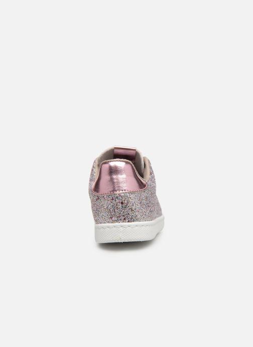 Sneakers Victoria Tenis Glitter Cristal Argento immagine destra