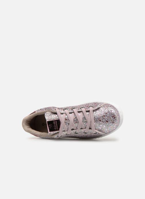 Sneakers Victoria Tenis Glitter Cristal Argento immagine sinistra