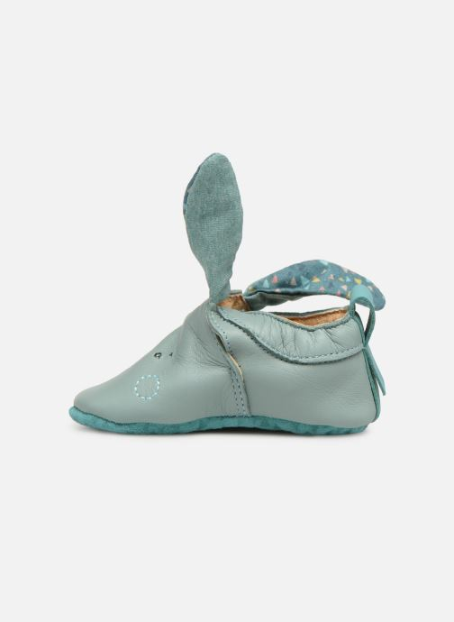 Chaussons Babybotte Lapin - Moulin Roty Bleu vue face