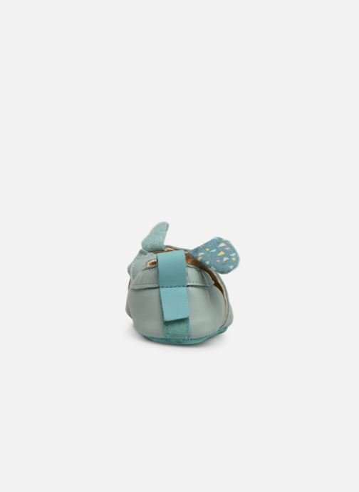 Chaussons Babybotte Lapin - Moulin Roty Bleu vue droite