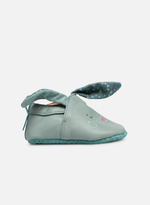 Pantoffels Babybotte Lapin - Moulin Roty Blauw achterkant