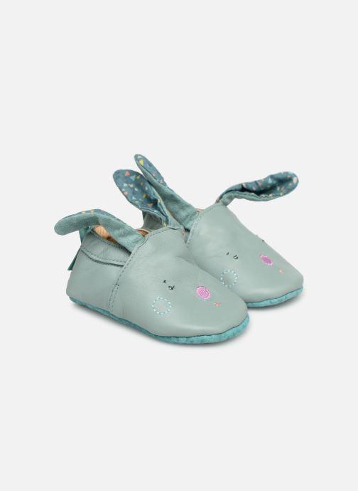Pantoffels Babybotte Lapin - Moulin Roty Blauw detail