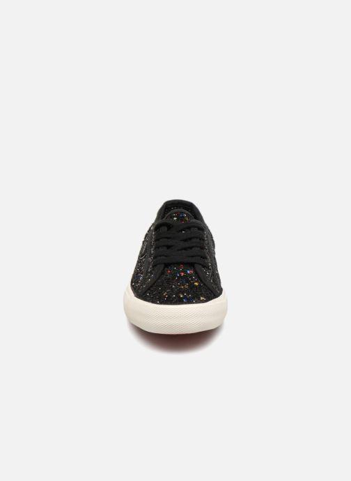 Baskets Pepe jeans Baker Glitters Noir vue portées chaussures