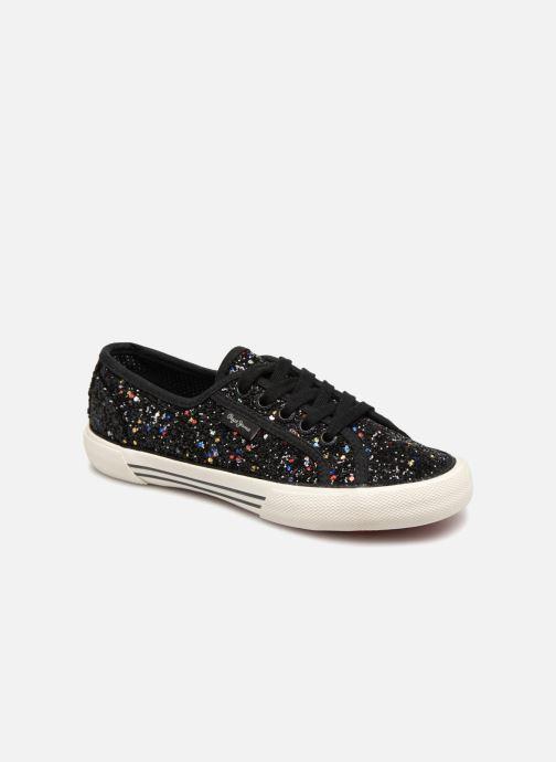 Sneakers Pepe jeans Baker Glitters Sort detaljeret billede af skoene