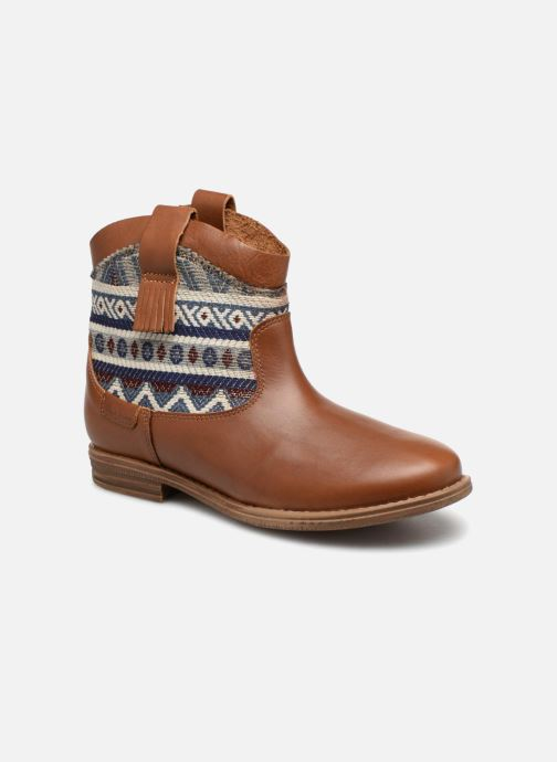 Bottines et boots Pepe jeans Anni Jackard Marron vue détail/paire