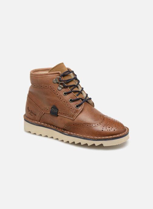Ankelstøvler Pepe jeans Alsaka Brun detaljeret billede af skoene