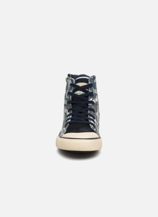 Baskets Pepe jeans Industry Jack Blue Bleu vue portées chaussures