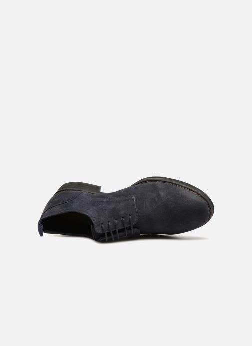 Veterschoenen Pepe jeans Hackney Rustic Blauw links
