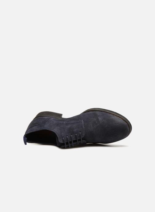 Zapatos con cordones Pepe jeans Hackney Rustic Azul vista lateral izquierda