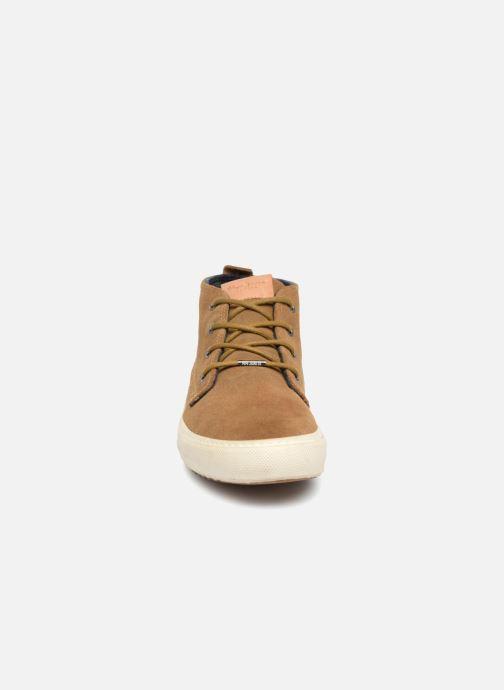 Baskets Pepe jeans Harry Sand Marron vue portées chaussures
