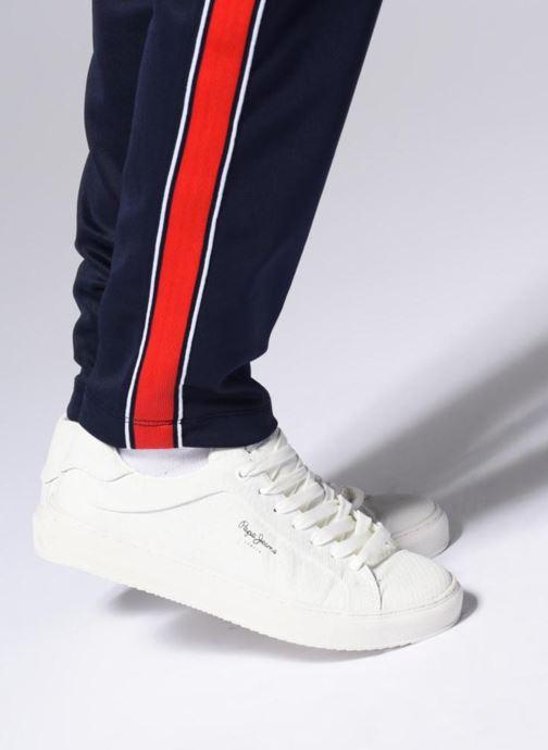 Baskets Pepe jeans Adams Samy Blanc vue bas / vue portée sac