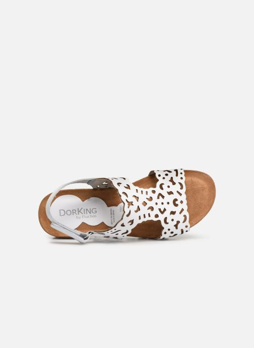 Sandales et nu-pieds Dorking Summer 7846 Blanc vue gauche