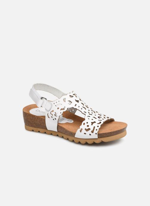 Sandales et nu-pieds Dorking Summer 7846 Blanc vue détail/paire